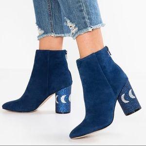 New! Katy Perry Mayari Suede Boots w/ Glitter Heel